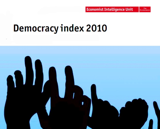Democracy Index 2010 from the Economic Intelligence Unit (pdf)