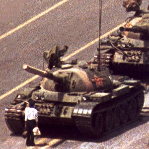 tiananmen square 1989 tank man china close up one tank Most Epic Photos: Tank Man