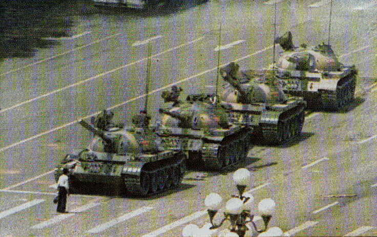 tiananmen square 1989 tank man china hesitating Most Epic Photos: Tank Man
