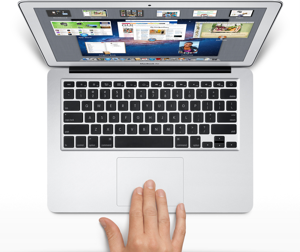 apple gestures fingers laptop trackpad pro air Apple gestures...quietly revolutionary