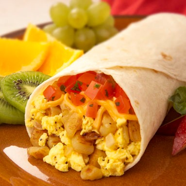 Breakfast burrito from 1X57.com