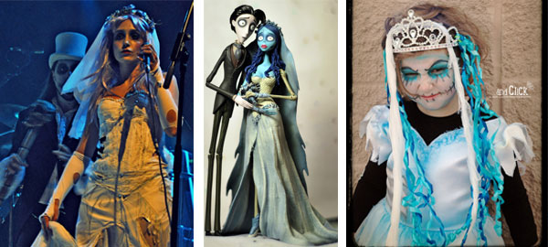 corpse bride tim burton halloween costume girls adults wedding dress getting