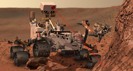 laser curiosity mars rover robot nasa space mission msl NASAs latest Mars probe, Curiosity, a nuclear robot with science fiction abilities