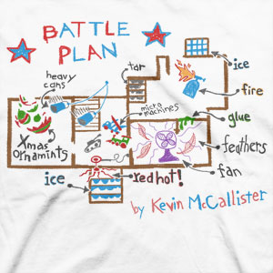 kevin mcallister battle plan home alone map wet bandits Kevins Battle Plan for the Wet Bandits from the movie Home Alone
