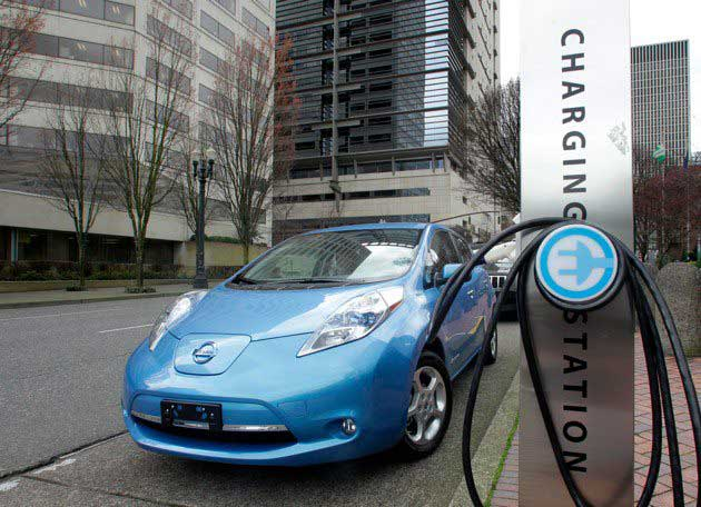 Nissan Leaf Electric Cars Means No Oil Changes Tailpipe And A Market For Charging Stations