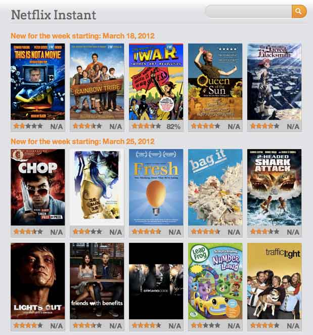 Whichflicks Browse Netflix Instant Watch Movies And Tv Shows On