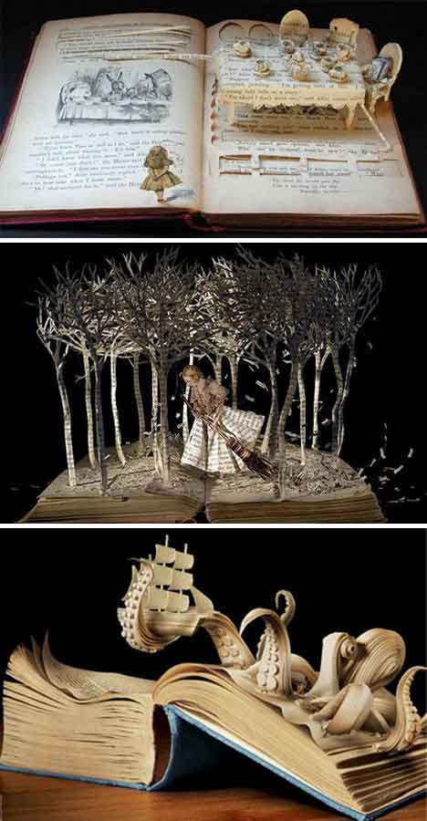 books as art Turning old books into art and sculptures