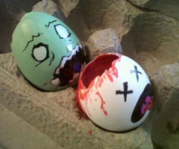 zombie easter egg good friday Geeky Easter Egg decorations   Angry Birds, zombies...