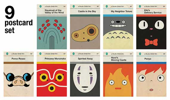 Penguin Book Cover Size : Postcards from studio ghibli timeless anime films