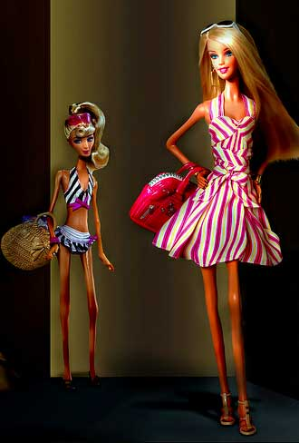 barbie fashion model ultra thin anorexic runway Israeli government bans ultra thin models and photoshop in advertisements