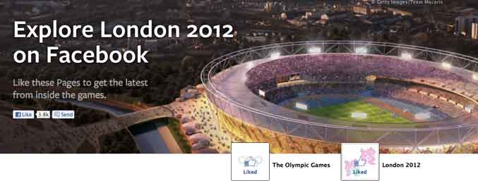 explore london 2012 olympics facebook like page games Facebook creates a special page for the London 2012 Olympic Games