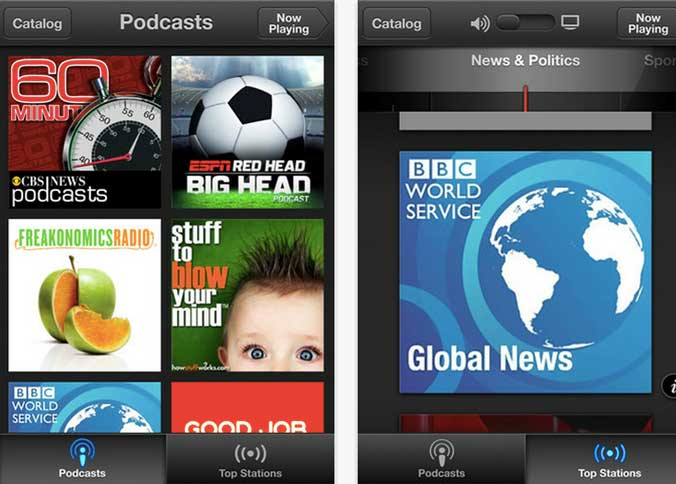 podcast app screenshot apple iphone top stations Apple finally releases a Podcast app    with subscriptions, top charts, skip forward/back