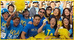 ucla fans cheering rose bowl football UCLA Football 2012 Schedule