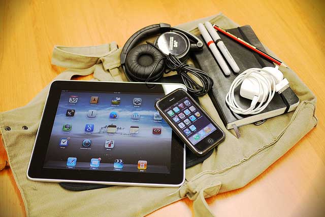 In my bag today ipda iphone headphones charger pens notebook Next Apple event for iPhone 5 set for September 12   maybe also for iPad mini