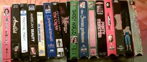 My favorite VHS films The end of ownership for DVDs   say goodbye to your DVD collection