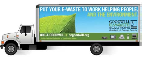 e waste truck goodwill orange county environment helping people solutions Goodwill   a leader in recycling e waste, creating green jobs