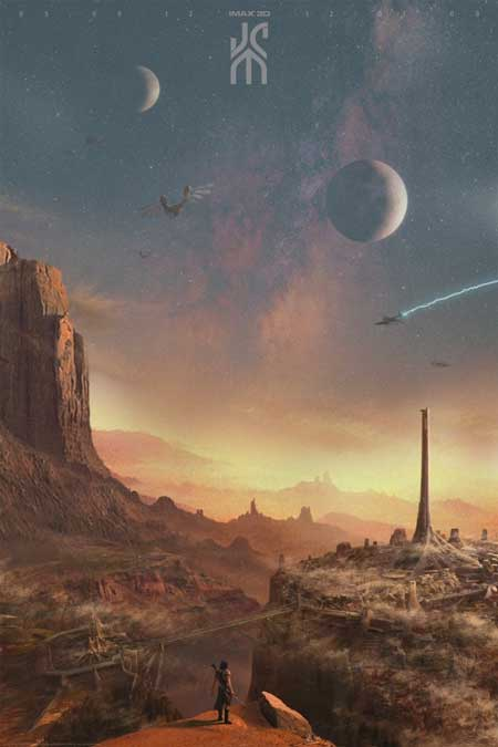 john carter disney mars mondo poster landscape imax Mondo posters for John Carter, The Dark Knight Rises, Amazing Spider Man