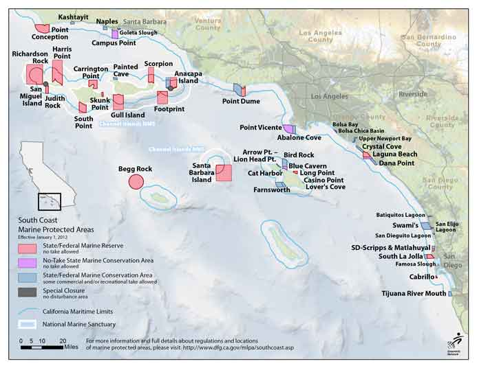 map southern california marine protected area effective january 1 2012 mpa Maps of Southern Californias   Marine Protected Areas