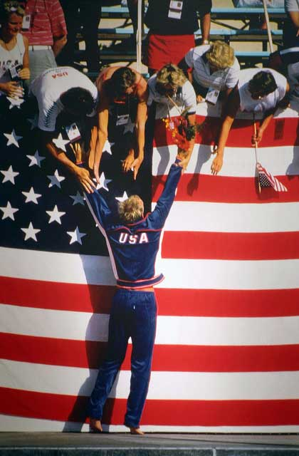 rowdy gaines 1984 olympic summer games los angeles california swimmer mens 100 meter freestyle gold medal Orange County has become a dominant location for Olympic athletes to live/train