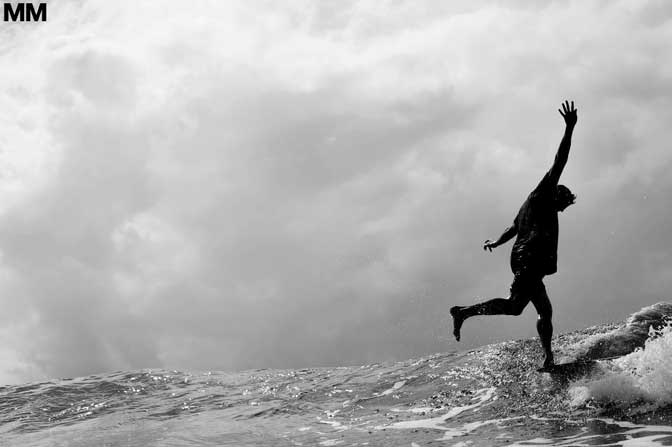Morgan Maassen Dane Peterson walking on water in Noosa Australia The amazing shots of surf photographer Morgan Maassen