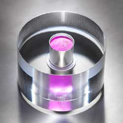 The MASER core—a sapphire ring containing a reddish pink crystal that amplifies microwaves to create a concentrated beam Get ready for the Maser Beam, older than a laser and more powerful