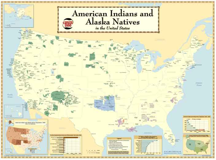 american indians alaska native american people tribes reservations united states us census bureau Great maps of the Native American Tribes of North America 