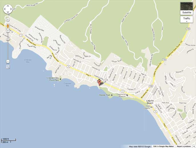 fishermans cove laguna beach snorkeling diving map Snorkeling at Fishermans Cove in Lagune Beach, CA   where, what, how, & when