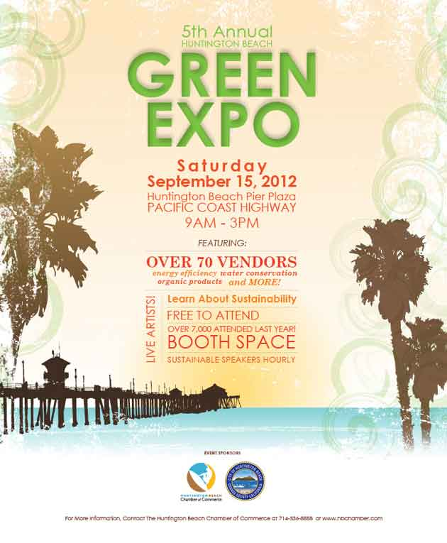 huntington beach green expo 2012 september 15 pier plaza pacific coast highway vendor 5th annual booth free to attend 5th Annual Huntington Beach Green Expo   September 15, 2012