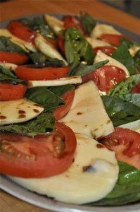 insalate caprese tomatoes basil mozzarella 199x300 insalate caprese tomatoes basil mozzarella