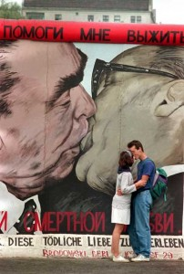 kisses between world leaders were a lot hotter and heavier. Communist leaders always went for a proper smackeroo as a symbol of joy fraternity and equality between fellow socialist nations Dmitri Vrubel. Photo DPA 202x300 kisses between world leaders were a lot hotter and heavier. Communist leaders always went for a proper smackeroo   as a symbol of joy, fraternity, and equality between fellow socialist nations Dmitri Vrubel. Photo  DPA
