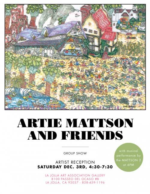 mattson2 band art show poster artie mattison and friends art group show I love concert fliers   an underrated art form