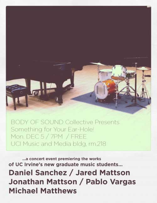 mattson2 band art show poster body of sound collective drums and piano I love concert fliers   an underrated art form