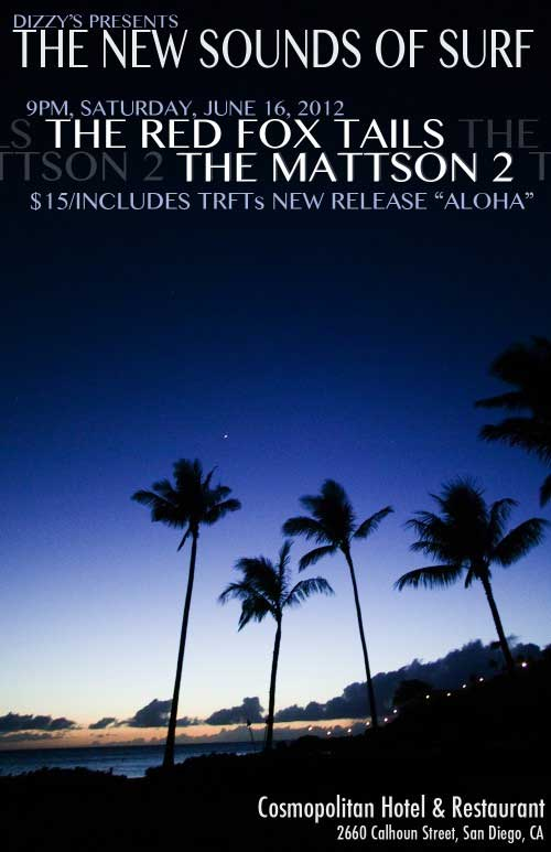 mattson2 band art show poster new sounds of surf dusk palm trees coast I love concert fliers   an underrated art form