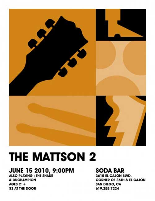 mattson2 band art show poster soda bar I love concert fliers   an underrated art form