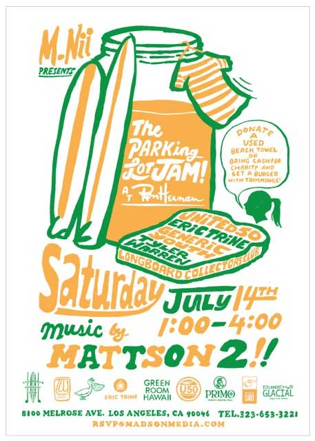 mattson2 band art show poster the parking lot jam peanut butter m nil I love concert fliers   an underrated art form