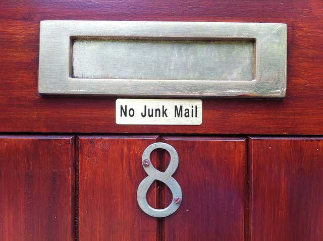 no junk mail please mailbox wooden metal door Zero Waste: stopping all that stupid junk mail