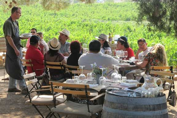 outdoor dining at deckmans in the el mogor winery baja california valle de guadalupe organic sustainable local Mexicos wine country   Valle de Guadalupe   is on the rise
