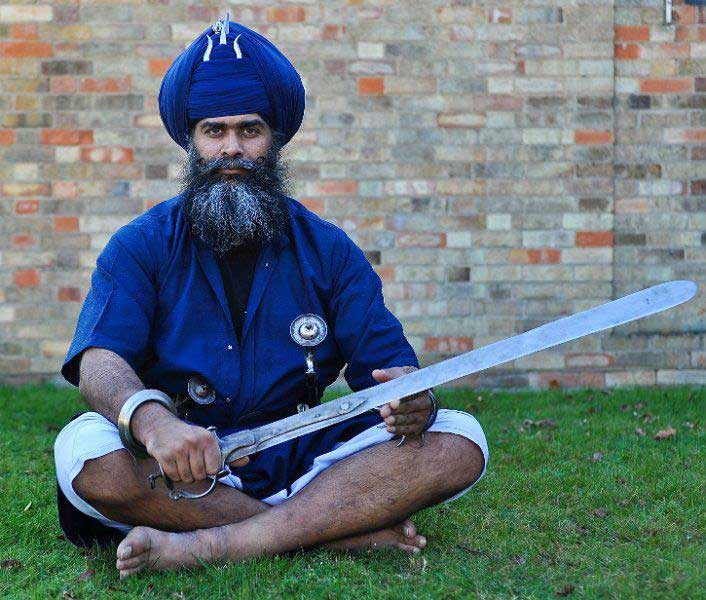 shastar vidiya sikh Nihang Niddar Singh photographed by www.terry jones photographer.com  The Sikhs have their own ferocious martial art   Shastar Vidiya   among the oldest in the world