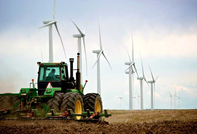 tractor farm wind energy general electric turbines Wind is cheaper than coal?    Fact checking this statement