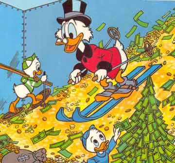 uncle scrooge money bin duck tales ski cash coins huey duey louie Apple the most valuable company ever   worth $619 billion