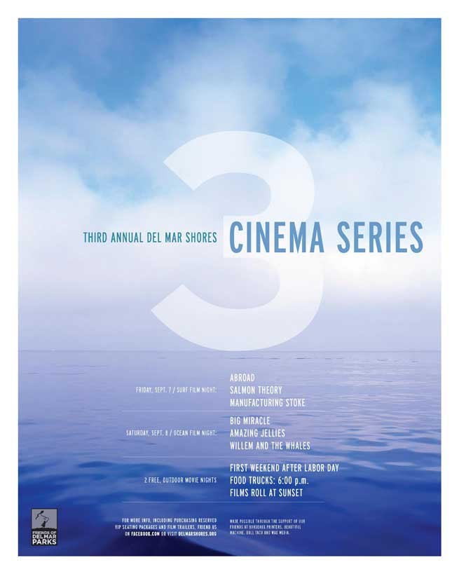 del mar cinema series 2012 poster Del Mar Cinema Series   Sep 7 8, 2012   surf & ocean films