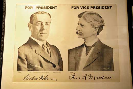 president vice president woodrow wilson thomas marshall 1912 The Vice Presidents that history forgot
