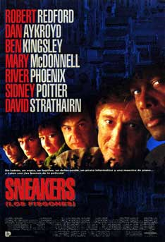 sneakers movie poster dark black robert redford foreign Have you seen Sneakers?   The classic spy thriller starring Robert Redford