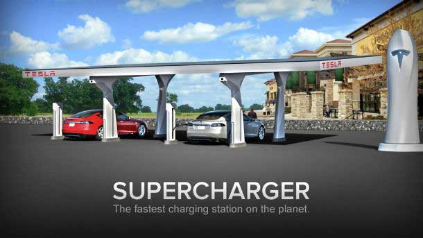 Tesla Announces Network Of Free Charging Stations Powered