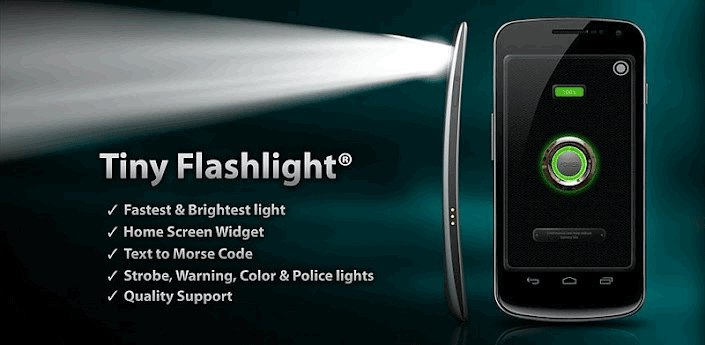 tiny flashlight android app flash camera phone Turn the flash on your Android, iPhone camera into a flashlight