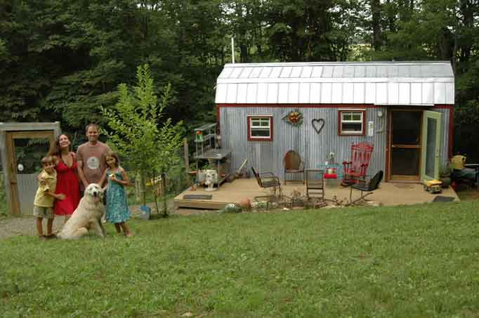 tiny house family rural virginia 168 square feet hazi karl berzins CNN profile of a couple moving from a 1,500 to 168 square foot home