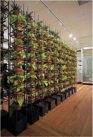 vertical gardens wall of pots stacked Stunning photos of vertical wall gardens