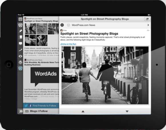 wordpress ipad app blogging platform Summary of Matt Mullenwegs   State of the Word 2012