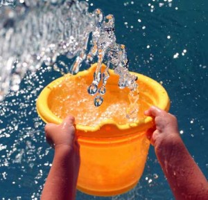 yellow bucket of water splash catch everywhere 300x289 yellow bucket of water splash catch everywhere
