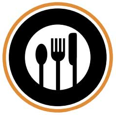 farm to fork plat table knive spoon logo America throws away 40% of its food   under the supermarket model